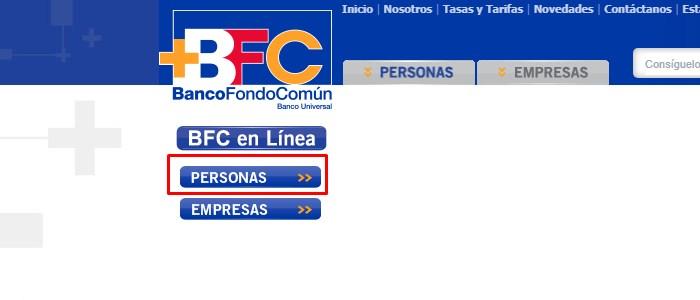 Pagina web BFC