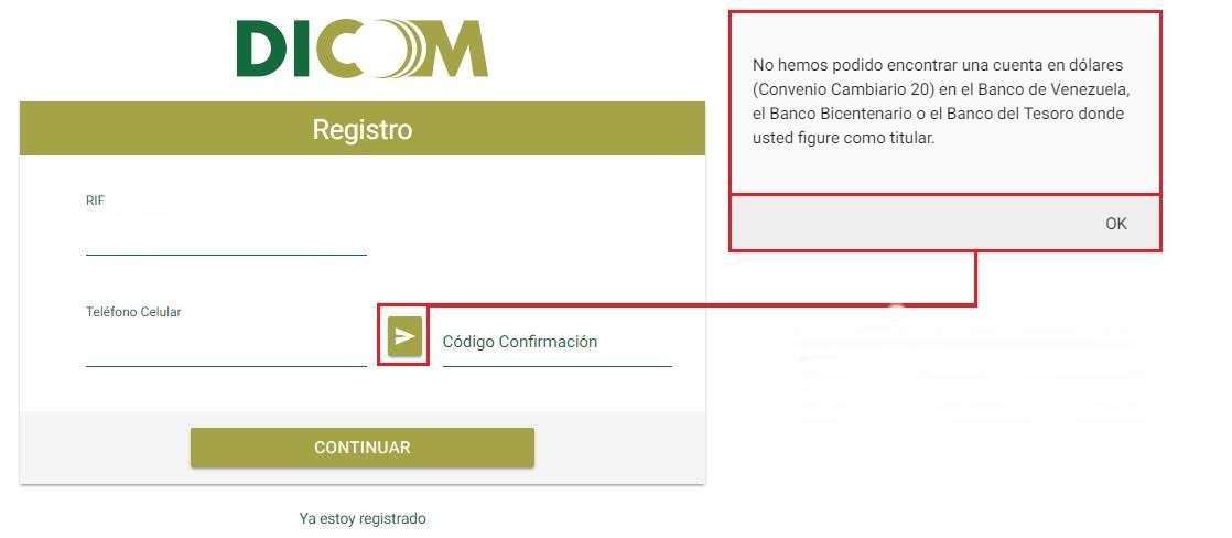 DICOM Registro RIF y Celular