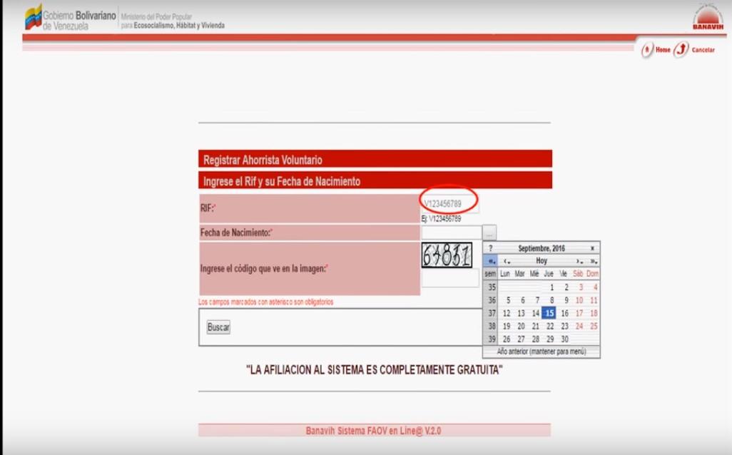 FAOV en línea registro