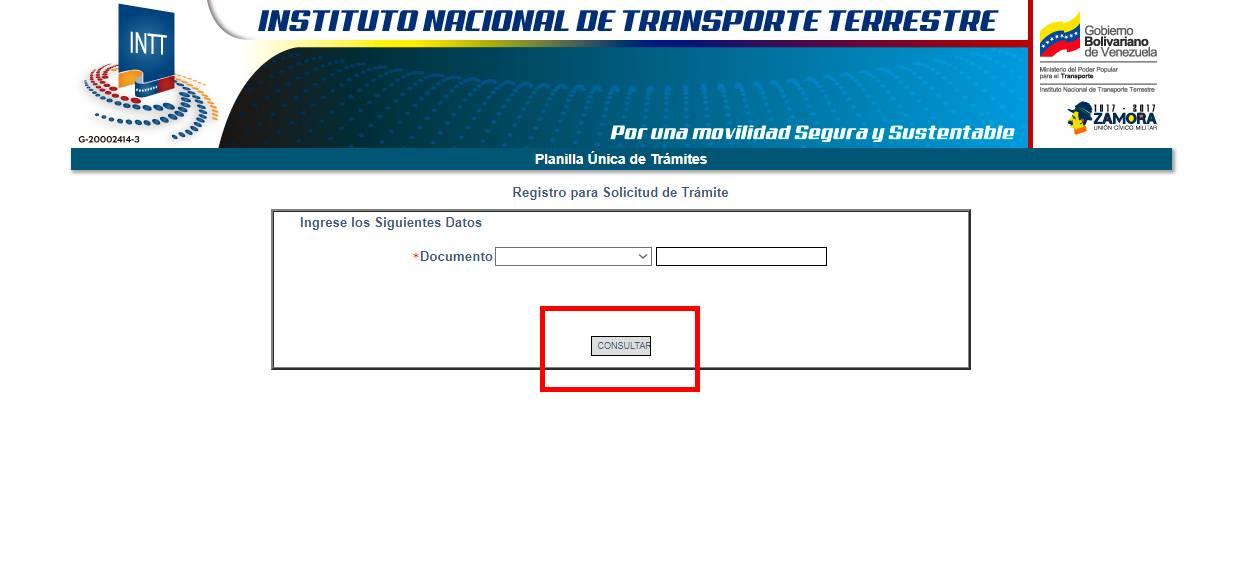 INTT Consultar Registro