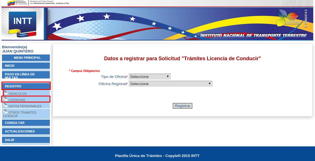 INTT licencia