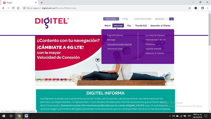 Ingresa al Portal Web
