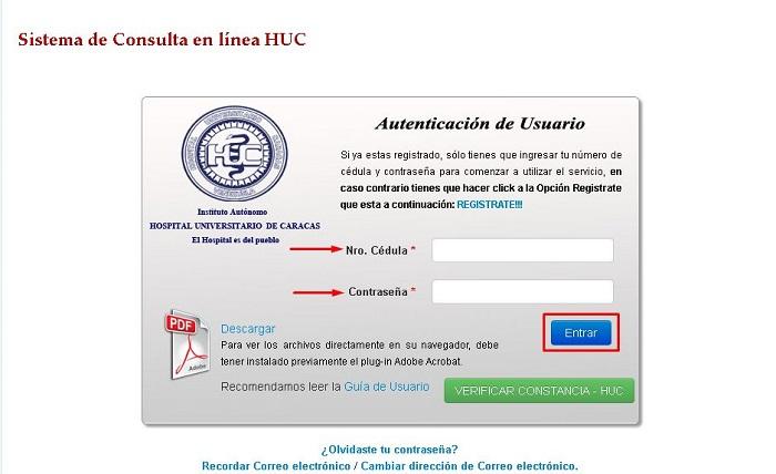 Sistema de consulta en línea