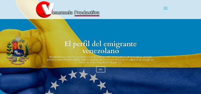 Página web Venezuela Productiva