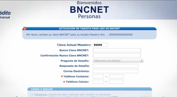 activacion uso bnc net