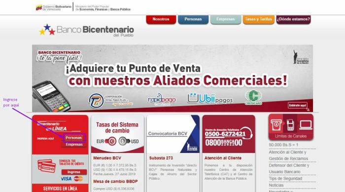 bicentenario en linea ingreso