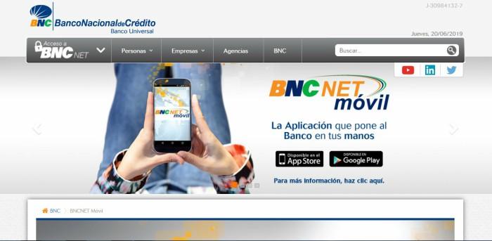 bnc net movil aplicacion