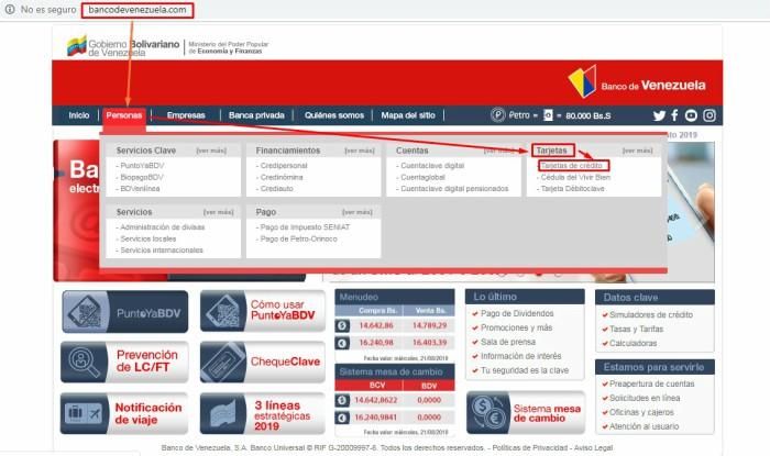 como obtener tarjeta de credito del banco de venezuela