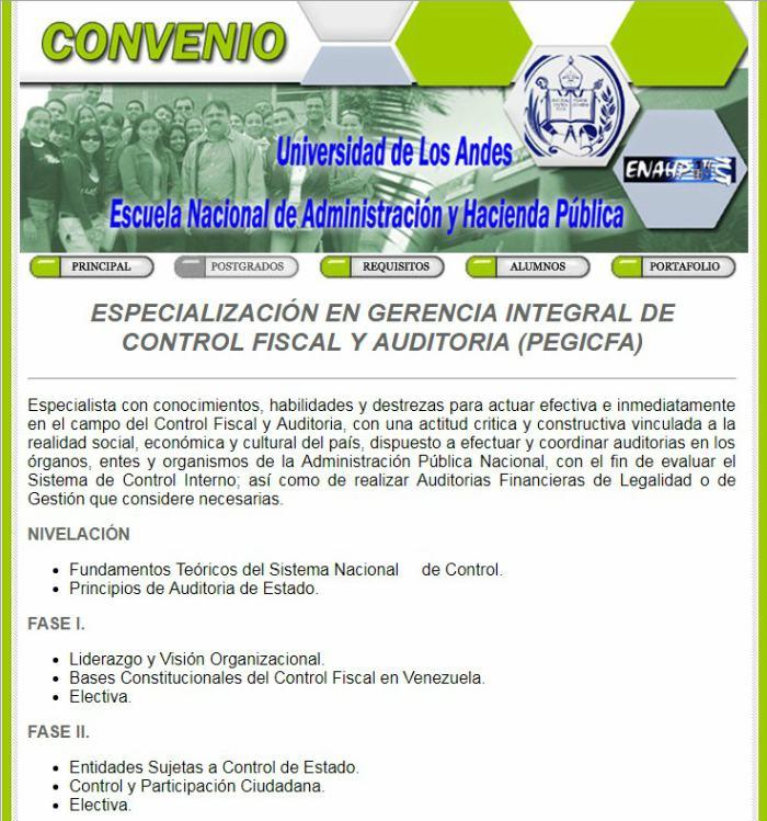 postgrado en Gerencia Integral de Control Fiscal y Auditoria
