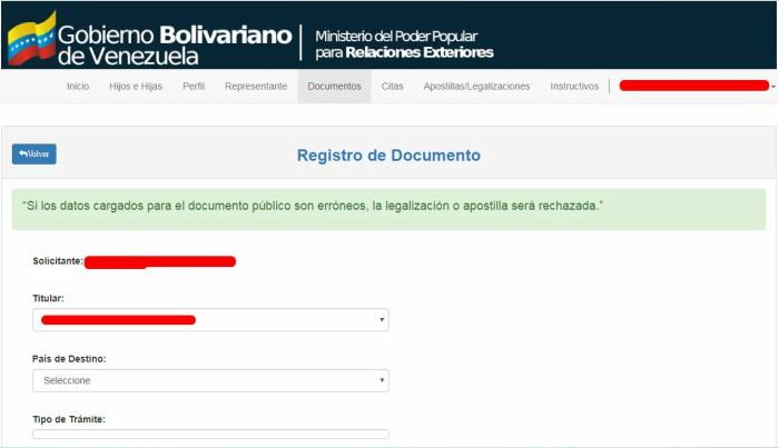 registro de documentos apostilla