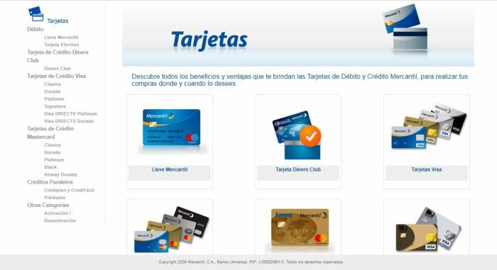 tarjeta de crédito del banco mercantil
